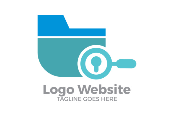 website logo technology modern graphic by thehero