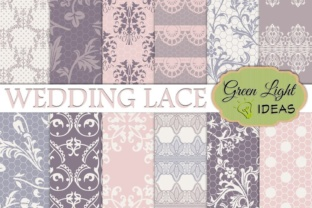 Download Free Wedding Lace Digital Papers Lace Backgrounds Graphic By for Cricut Explore, Silhouette and other cutting machines.