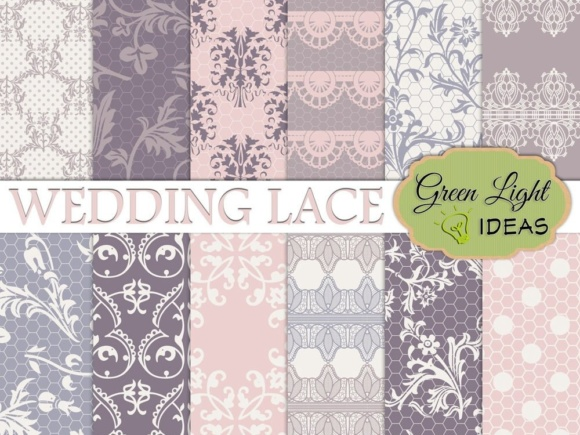 Wedding Lace Digital Papers & Lace Backgrounds Graphic Backgrounds By GreenLightIdeas