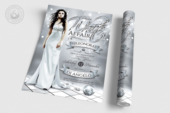 White Party Flyer Template V2 Graphic Print Templates By ThatsDesignStore - Image 3