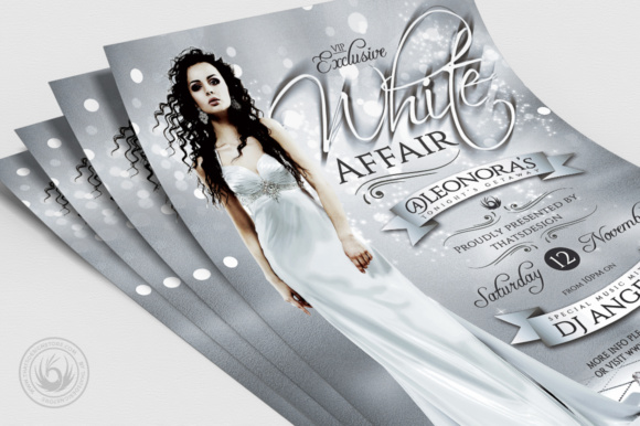 White Party Flyer Template V2 Graphic Print Templates By ThatsDesignStore - Image 5