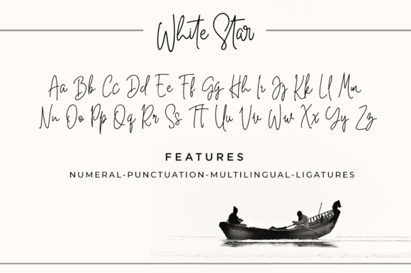 Print on Demand: White Star Script Script & Handwritten Font By Din Studio - Image 2