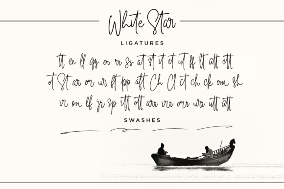 Print on Demand: White Star Script Script & Handwritten Font By Din Studio - Image 3