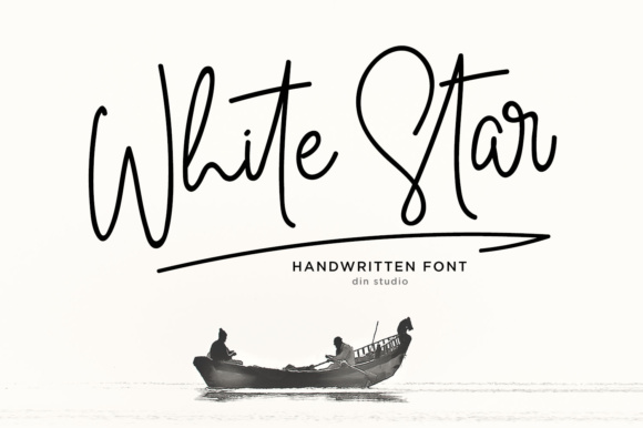Print on Demand: White Star Script Script & Handwritten Font By Din Studio