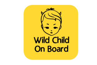 Wild Child on Board Craft Design By Creative Fabrica Crafts