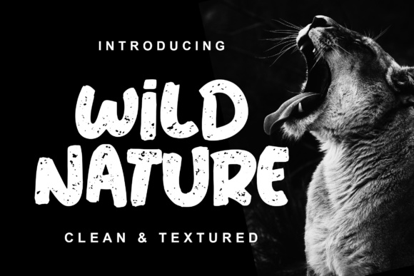 Print on Demand: Wild Nature Display Font By Lettersiro Co.