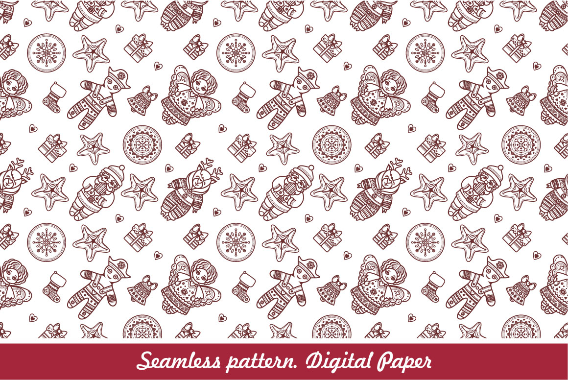 Download Free Winter Holiday Digital Scrapbook Paper Seamless Pattern for Cricut Explore, Silhouette and other cutting machines.
