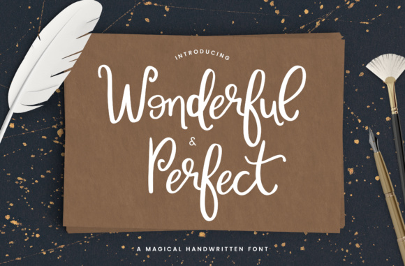 Print on Demand: Wonderful & Perfect Script & Handwritten Font By Christine Teixeira