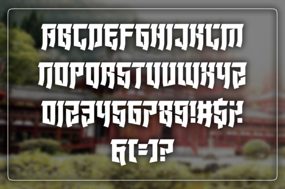 Print on Demand: Wonders of the Orient Display Font By Chequered Ink - Image 2