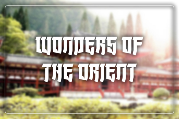 Print on Demand: Wonders of the Orient Display Font By Chequered Ink - Image 1
