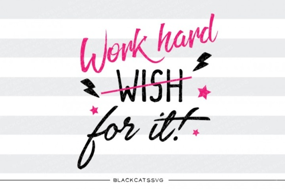 Print on Demand: Work Hard for It Graphic Crafts By BlackCatsMedia