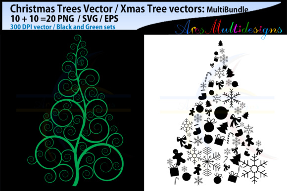 Download Free X Mas Tree Svg Christmas Tree Svg Silhouette Graphic By Arcs for Cricut Explore, Silhouette and other cutting machines.