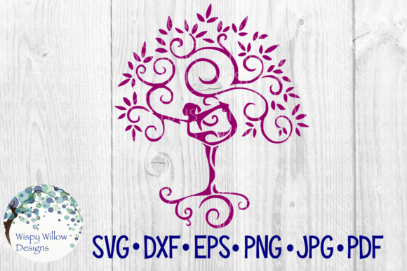 Yoga Tree Graphic Crafts By WispyWillowDesigns