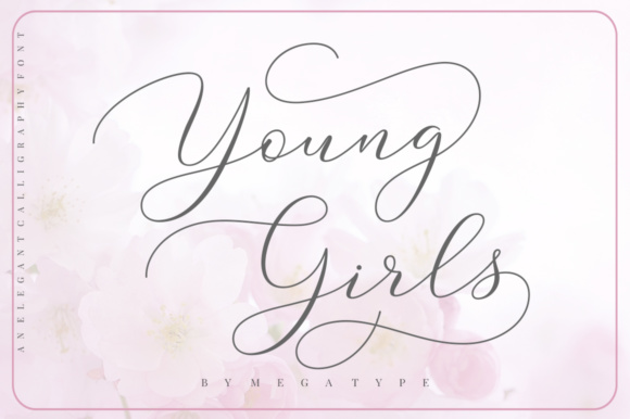 Print on Demand: Young Girls Script Script & Handwritten Font By Megatype
