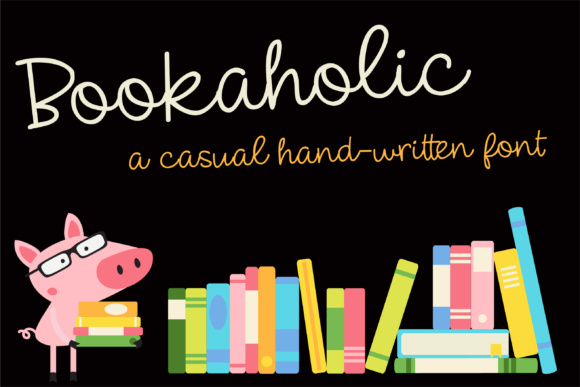 Print on Demand: ZP Bookaholic Script & Handwritten Font By Illustration Ink