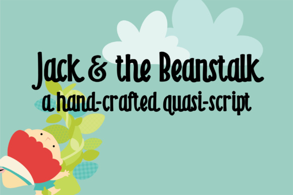 Print on Demand: ZP Jack and the Beanstalk Script & Handwritten Font By Illustration Ink
