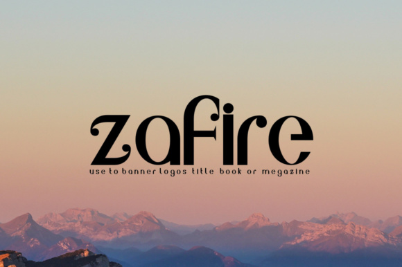 Print on Demand: Zafire Display Font By jehansyah251