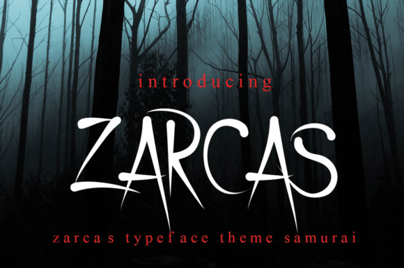 Print on Demand: Zarcas Display Font By jehansyah251