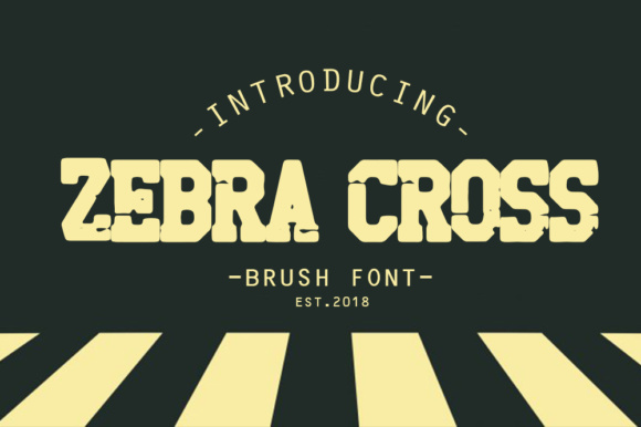 Print on Demand: Zebra Cross Blackletter Font By fluffyartstudio - Image 1