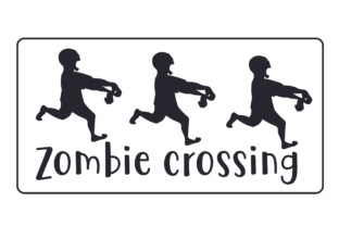 Zombie Crossing Halloween Craft Cut File By Creative Fabrica Crafts