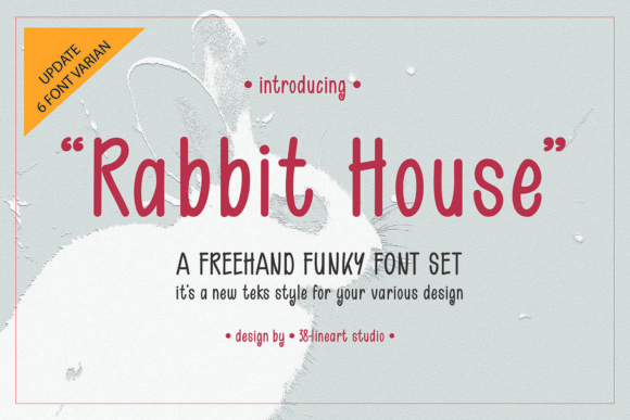 Print on Demand: Rabbit House Dingbats Font By 38.lineart
