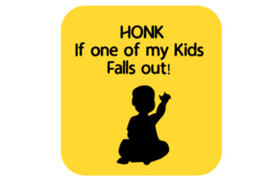 HONK if One of My Kids Falls out! Craft Design By Creative Fabrica Crafts