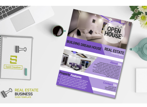 Real Estate Business Flyer Template Design Graphic Download
