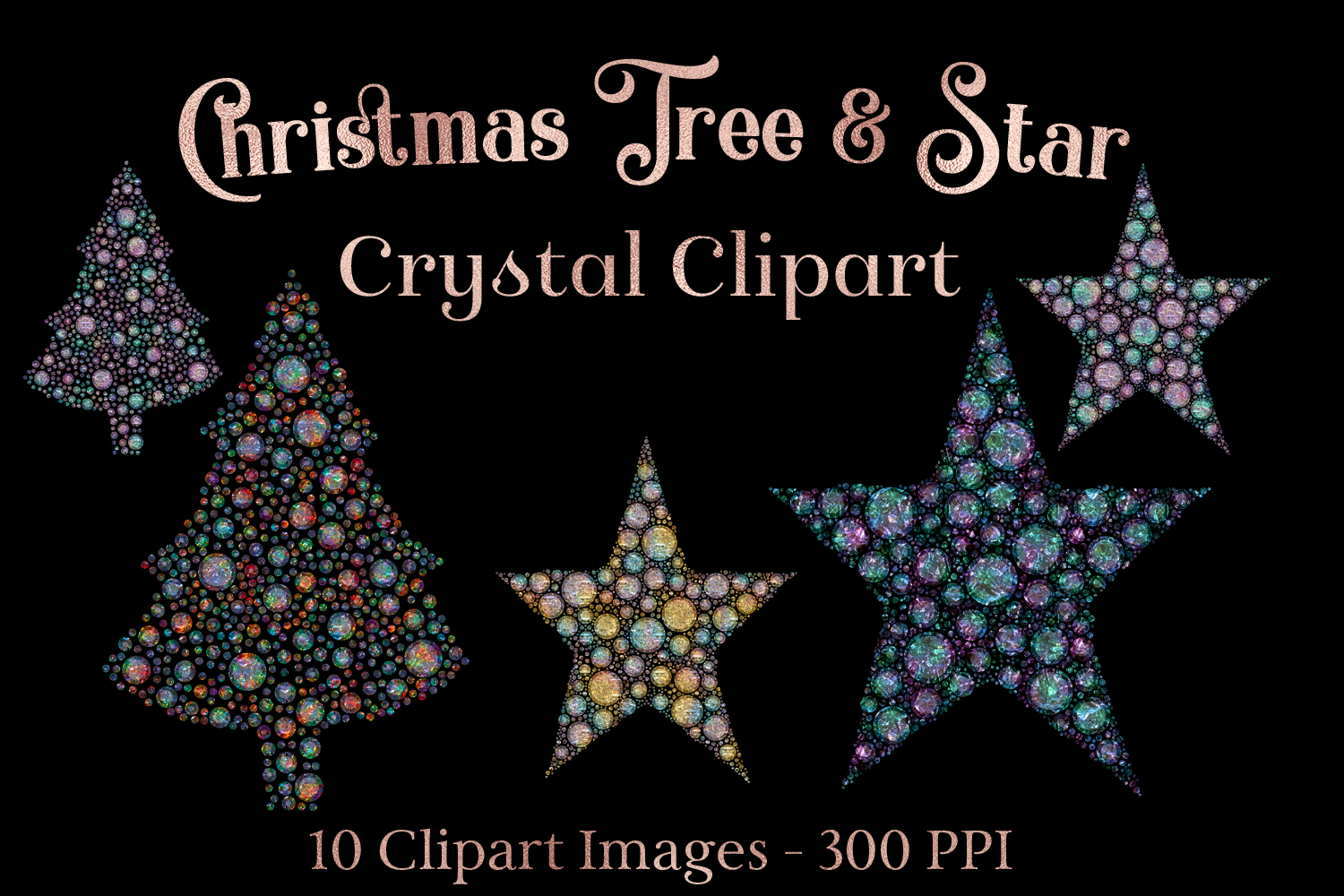 Download Free Christmas Tree And Star Crystal Clipart Graphic By for Cricut Explore, Silhouette and other cutting machines.