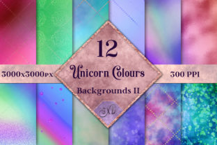 Unicorn Colours Backgrounds II - 12 Image Set Graphic By SapphireXDesigns