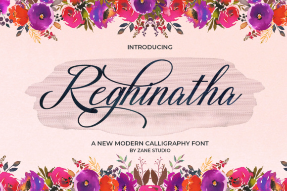 Print on Demand: Reghinatha Script Script & Handwritten Font By Zane Studio