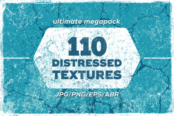110 Distressed Grunge Textures Pack Graphic By Yurlick