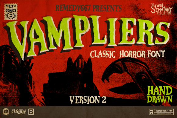 Print on Demand: Vampliers Display Font By remedy667