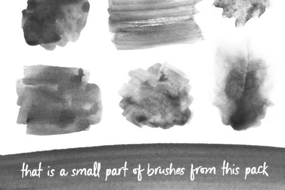 170 Watercolor Brushes Pack for Photoshop Graphic Brushes By Yurlick - Image 3