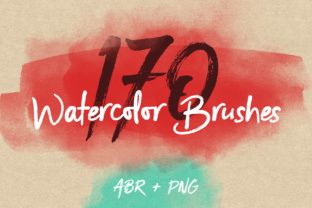 170 Watercolor Brushes Pack for Photoshop Graphic By Yurlick
