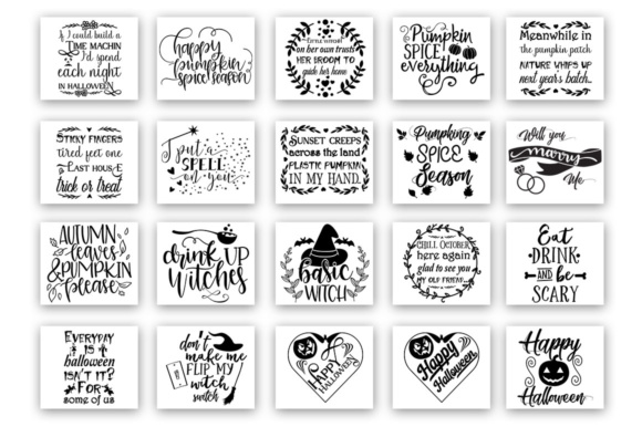 Download Free 20 Halloween Bundle Graphic By Designfarm Creative Fabrica for Cricut Explore, Silhouette and other cutting machines.