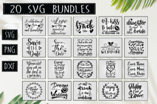 Download Free Wedding Quotes Bundle Graphic By Designfarm Creative Fabrica for Cricut Explore, Silhouette and other cutting machines.