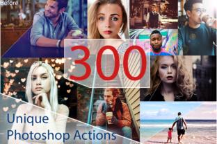 300 Unique Photoshop Actions Graphic By Eldamar Studio