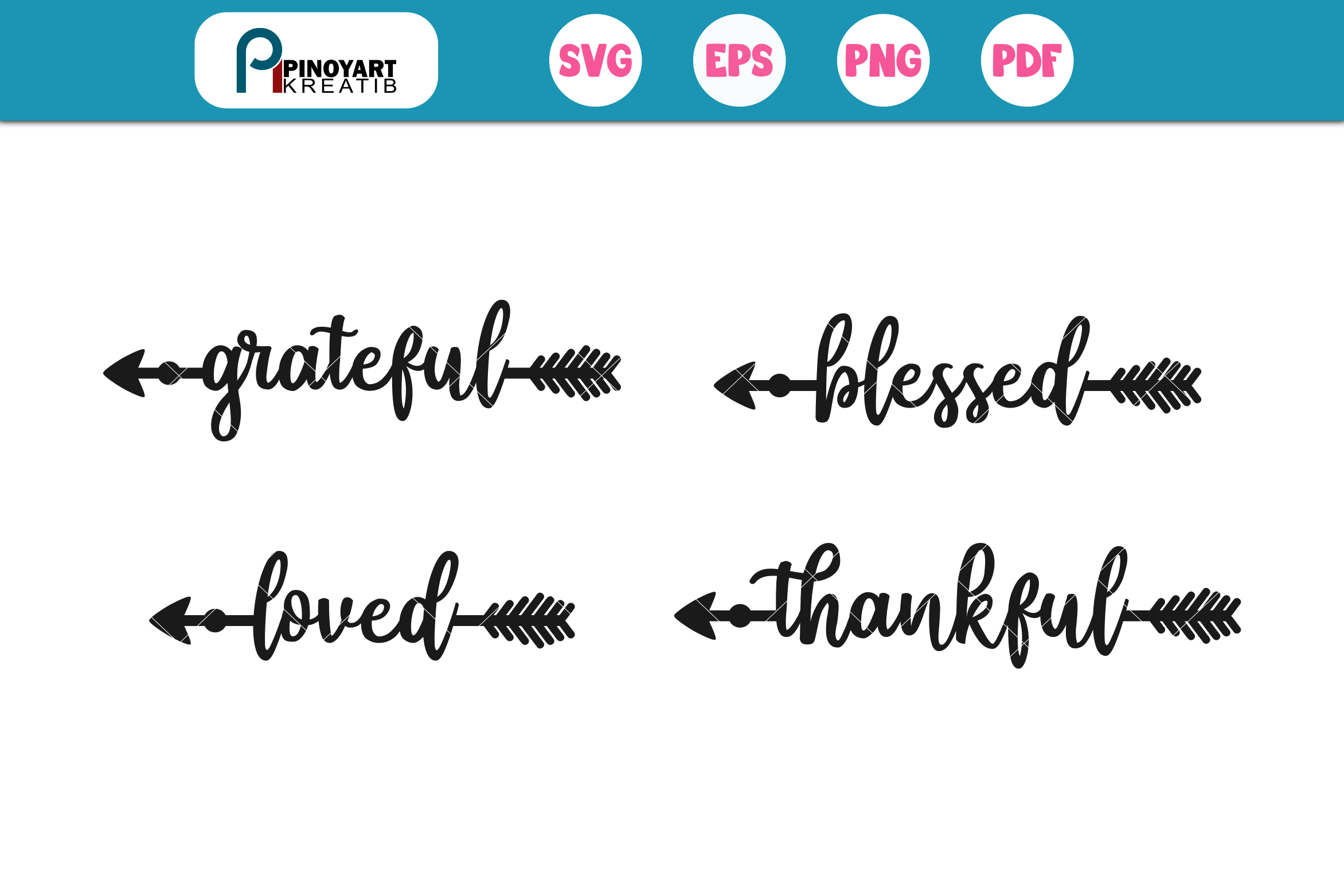 Download Free 4 Arrow Words Graphic By Pinoyartkreatib Creative Fabrica for Cricut Explore, Silhouette and other cutting machines.