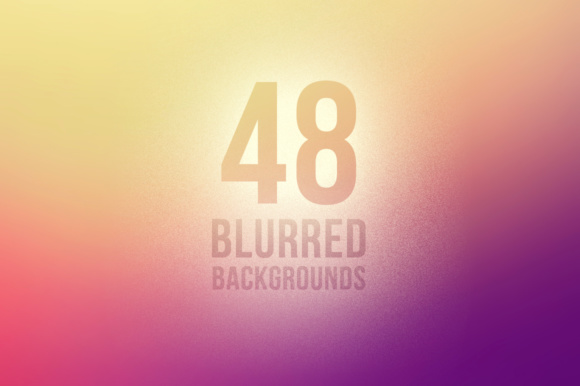 48 Blurred Color Backgrounds Graphic By Yurlick