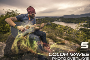 5 Color Waves Photo Overlays Graphic By Eldamar Studio
