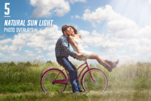 5 Natural Sun Light Photo Overlays Graphic By Eldamar Studio