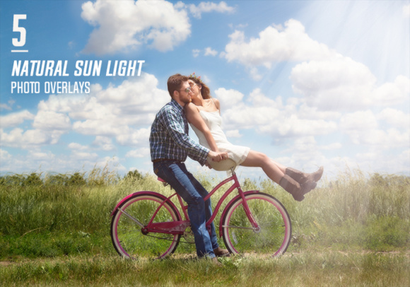 Print on Demand: 5 Natural Sun Light Photo Overlays Graphic Layer Styles By Eldamar Studio - Image 1