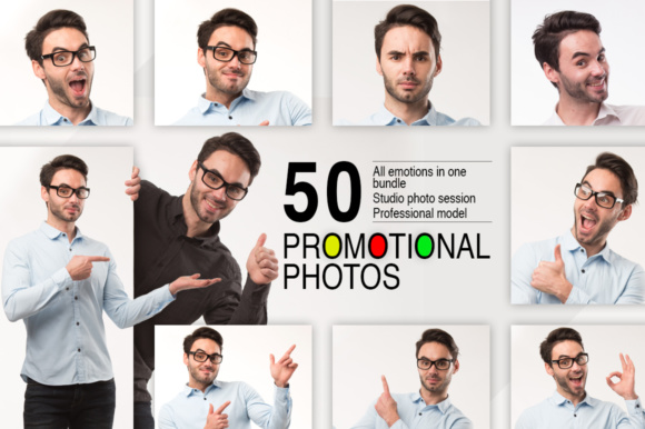 Print on Demand: 50 Promotional Photos Bundle Graphic Business By MyStocks