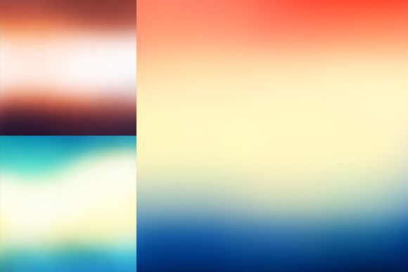 52 Colorful Blurred Backgrounds Graphic Download
