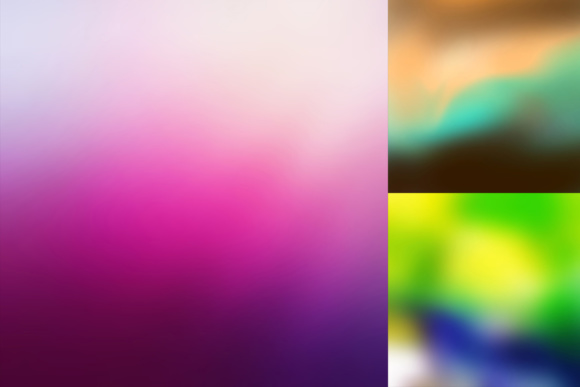 52 Colorful Blurred Backgrounds Graphic Item