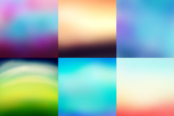 52 Colorful Blurred Backgrounds Graphic Design