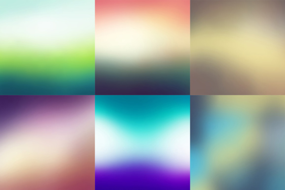 52 Colorful Blurred Backgrounds Graphic Image