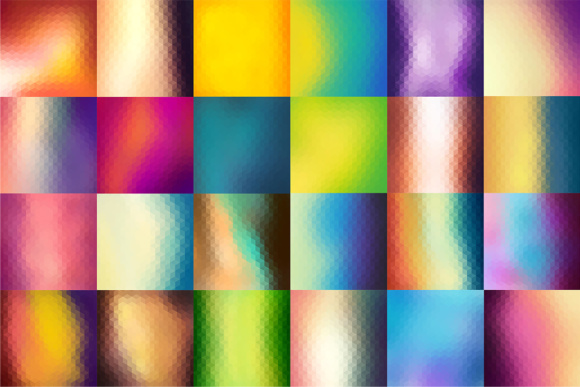 60 Colorful Geometric Backgrounds Graphic Backgrounds By Yurlick - Image 2