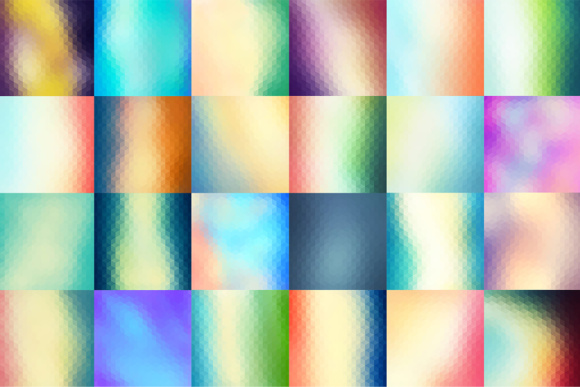 60 Colorful Geometric Backgrounds Graphic Backgrounds By Yurlick - Image 3