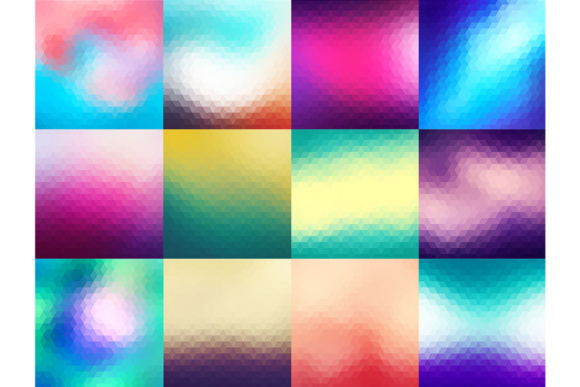 60 Colorful Geometric Backgrounds Graphic Backgrounds By Yurlick - Image 4
